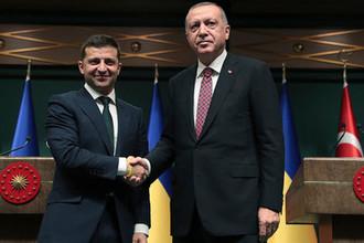 Президент Украины Владимир Зеленский и президент Турции Реджеп Тайип Эрдоган во время встречи в Анкаре, 7 августа 2019 года