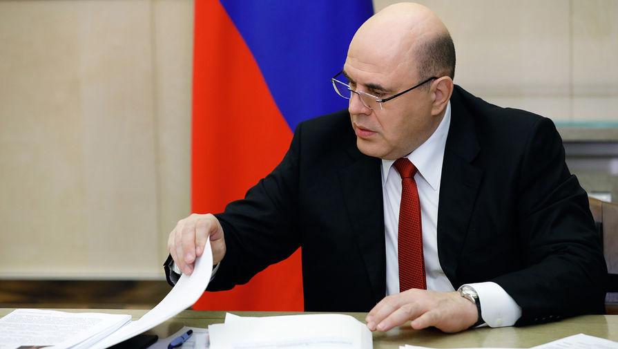 Председатель правительства России Михаил Мишустин во время заседания Евразийского межправительственного совета по видеосвязи, 10 апреля 2020 года