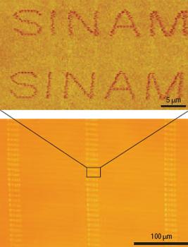Аббревиатура Центра масштабных и интегрированных нанопроизводств- Sinam // Zhang et al. Nature Nanotechnology, 2008