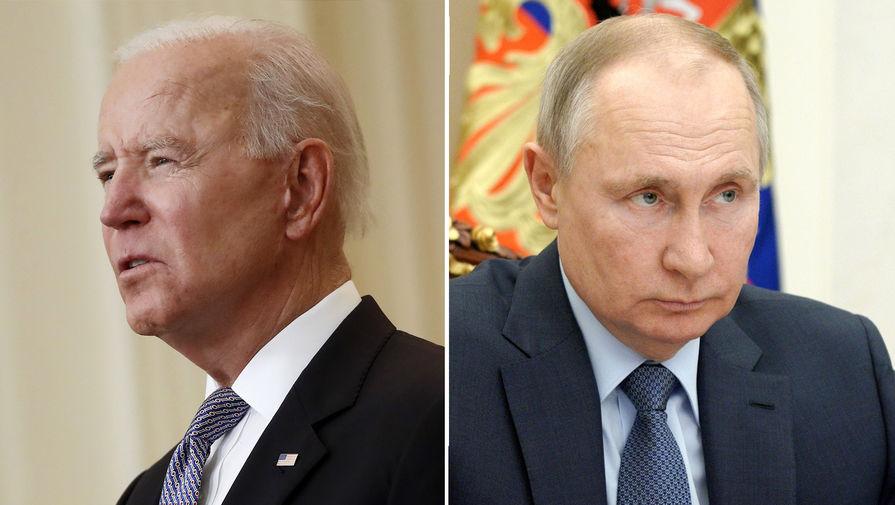 Президент США Джо Байден и президент России Владимир Путин