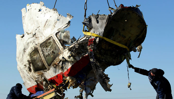 Обломки пассажирского самолета рейса MH17 авиакомпании Malaysia Airlines около деревни Грабово, ноябрь 2014 года