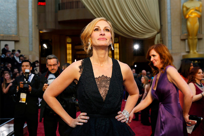 Актриса Джулия Робертс перед началом церемонии вручения премии «Оскар»