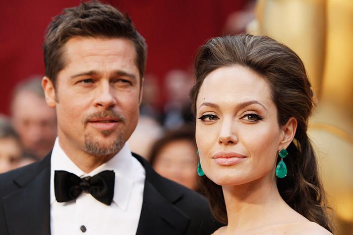Брэд Питт и Анджелина Джоли перед началом 81-й церемонии вручения наград премии «Оскар», 2009 год