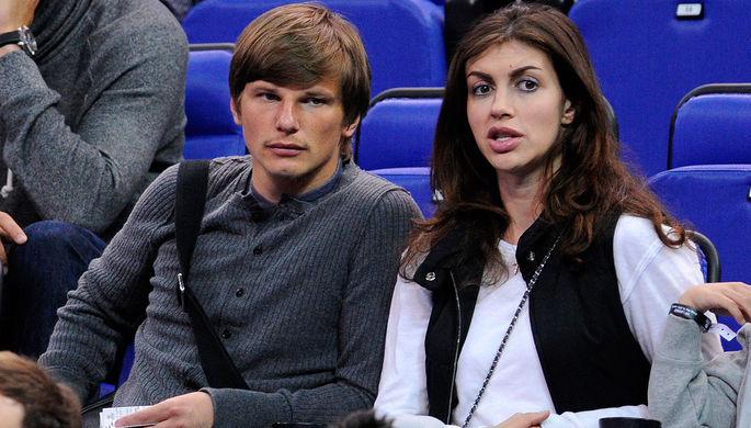 Андрей Аршавин с возлюбленной Алисой Казьминой
