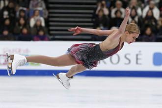 Россиянка Анна Погорилая на чемпионате мира по фигурному катанию в Хельсинки