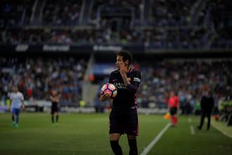 Неймар получил красную карточку в матче «Малага» — «Барселона»
