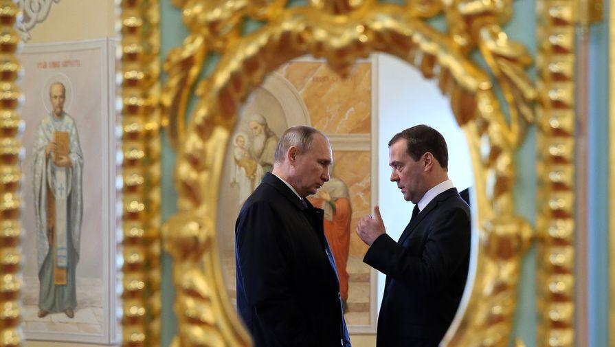 Президент России Владимир Путин и премьер-министр Дмитрий Медведев, 2018 год