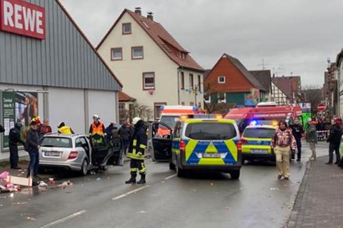 Ситуация на месте происшествия в немецком Фолькмарзене, 24 февраля 2020 года