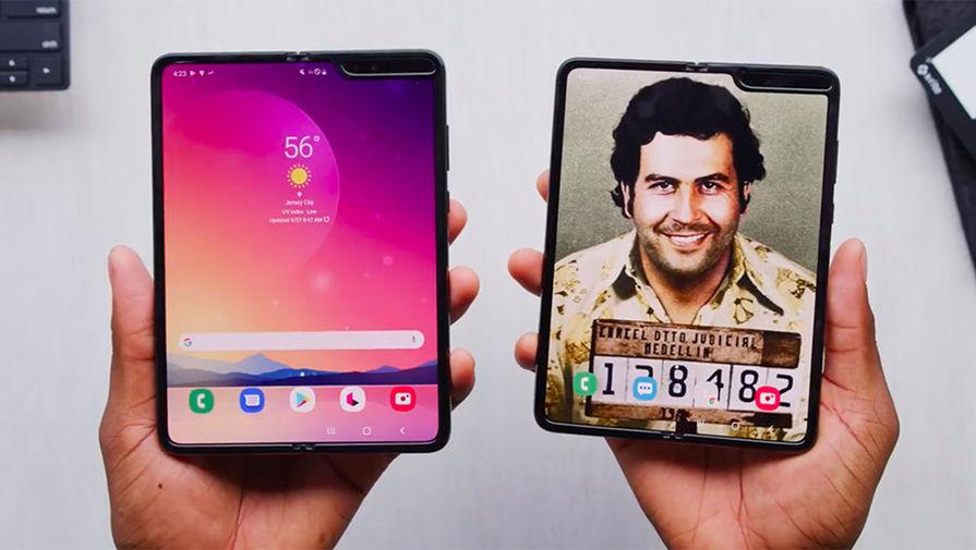 Смартфон от Эскобара оказался Galaxy Fold в золотой фольге thumbnail
