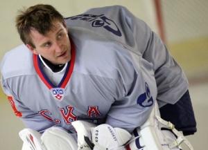 Евгений Набоков во время своей первой тренировки в СКА