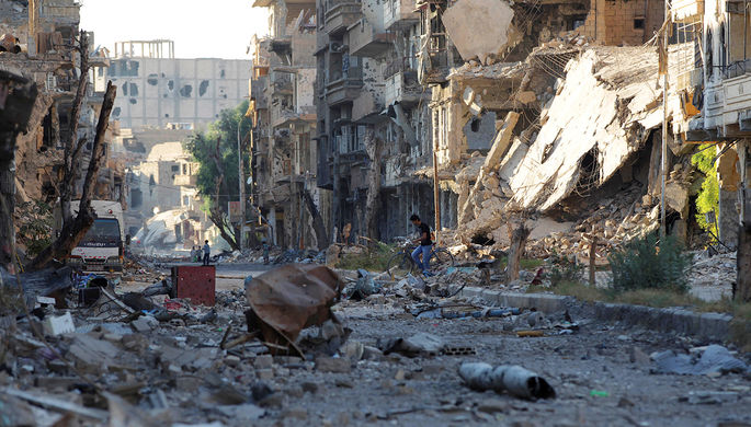 Развалины города Дейр-эз-Зор в Сирии