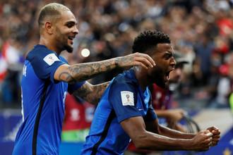 Сборная Франции играет с Люксембургом в рамках отбора на чемпионат мира — 2018 в России