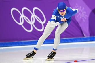 Российская конькобежка Наталия Воронина