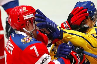 Эпизод матча Россия — Швеция