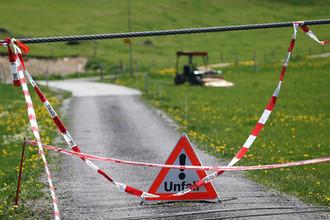 На месте аварии на подъемнике в швейцарском Энгельберге, 5 июня 2019 года