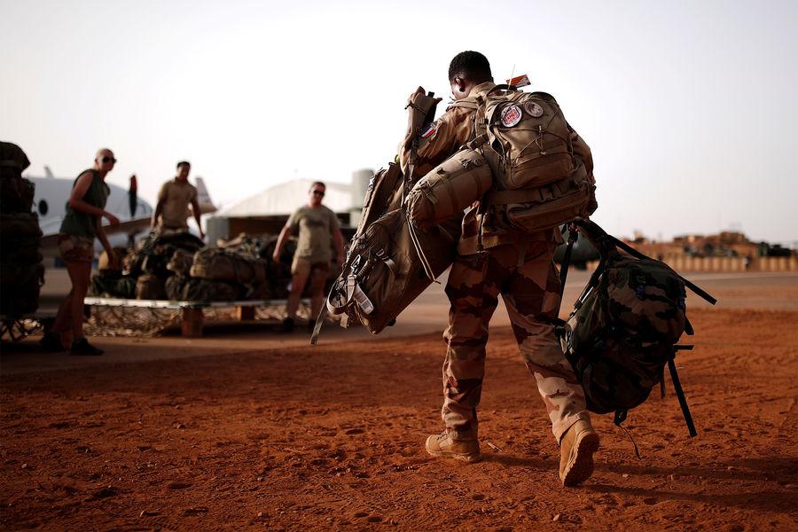 Французские солдаты во время военной операции «Бархан», Мали, 2019год
