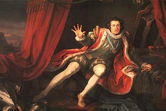 У. Хограт. Дэвид Гаррик в роли Ричарда III. 1745