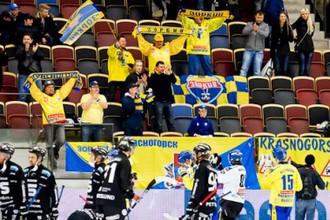Немногочисленные красногорские болельщики увидели триумф своей команды в Сандвикене