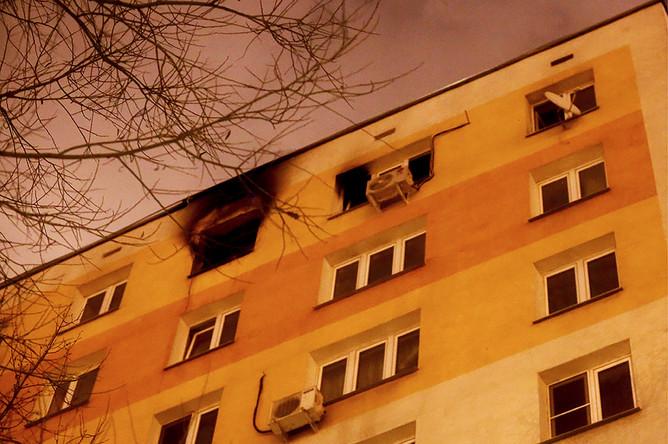 Дом на Шелепихинской набережной, где произошла авария из-за перепада давления газа. ЧП произошло по нескольким адресам в районе метро «Международная» и комплекса Москва-Сити