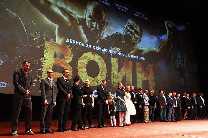 На премьере фильма «Воин» режиссера А. Андрианова в кинотеатре «КАРО 11 Октябрь»