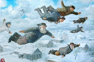 Фргамент картины Леонида Баранова