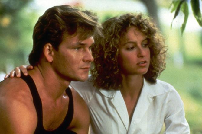 Дженнифер Грей и Патрик Суэйзи. Кадр из фильма «Грязные танцы» (1987)