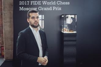 Российский гроссмейстер Ян Непомнящий на турнире Гран-при в Москве