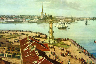 Фрагмент картины «Панорама Петербурга», Анжело Тозелли, 1820 г.