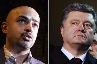 Депутат Рады Мустафа Найем и президент Украины Петр Порошенко, коллаж «Газеты.Ru»