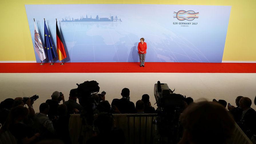 Канцлер Германии Ангела Меркель передвстречей участников саммита G20