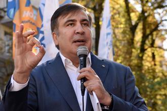 Бывший президент Грузии, экс-губернатор Одесской области Михаил Саакашвили во время выступления в Киеве, 19 сентября 2017 год