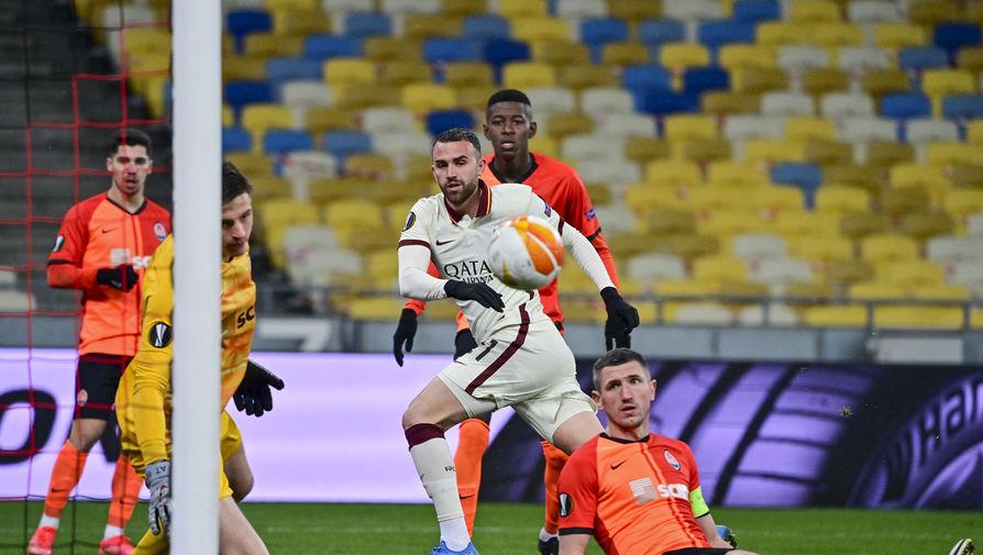 Фрагмент матча «Шахтер» — «Рома»