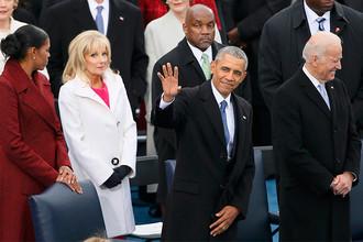 Барак Обама и Джо Байден на инаугурации 45-го президента США, 20 января 2017 года