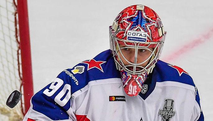 Игрок сборной России Александр Барабанов в матче группового этапа чемпионата мира по хоккею между сборными командами России и Швейцарии.