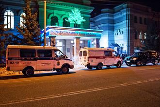 Полиция у здания главного управления Центробанка РФ по Амурской области