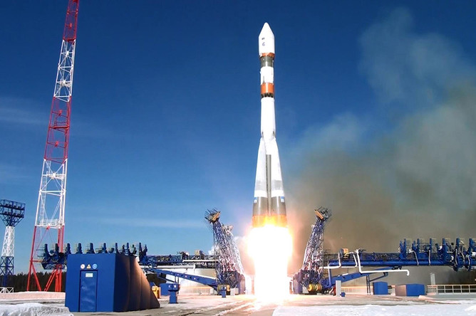 Запуск ракеты «Союз-2.1б» с космодрома Плесецк