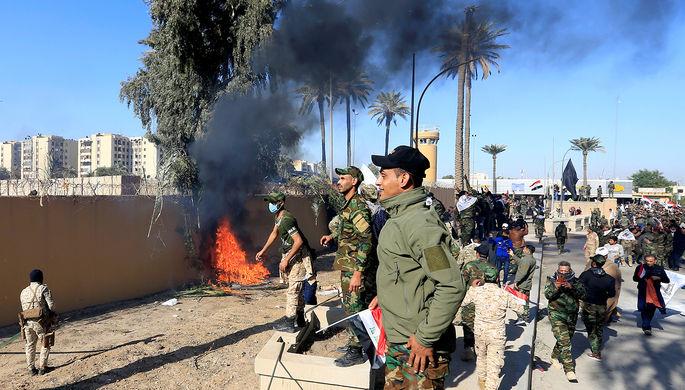 Ситуация у посольства США в Багдаде, 31 декабря 2019 года
