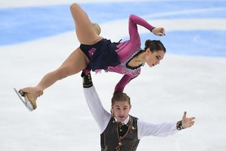 Россияне Кристина Астахова и Алексей Рогонов в произвольной программе парного катания