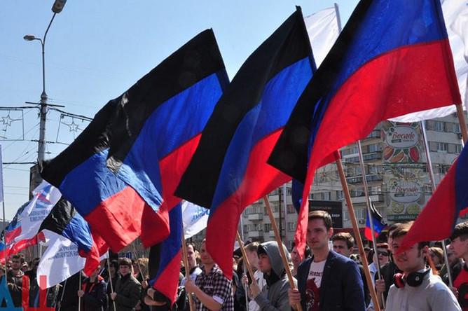 Митинг, приуроченный к четвертой годовщине провозглашения ДНР в Донецке
