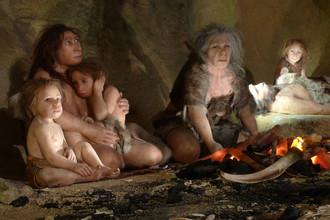 Семья неандертальцев в музее хорватского города Крапина