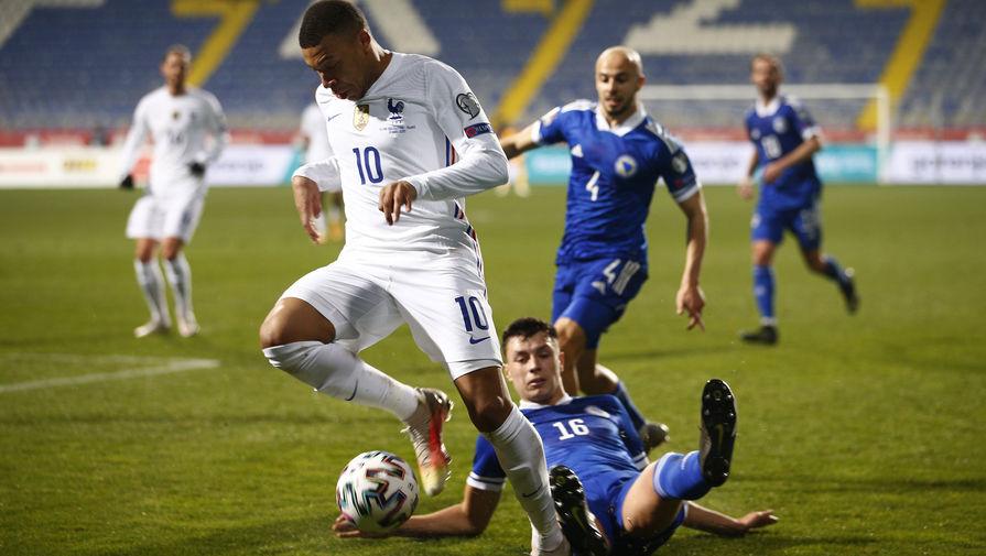 Эпизод матча Франция- Босния и Герцеговина