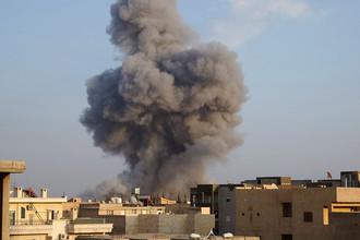Авиаудары по Ракке (фото из архива)