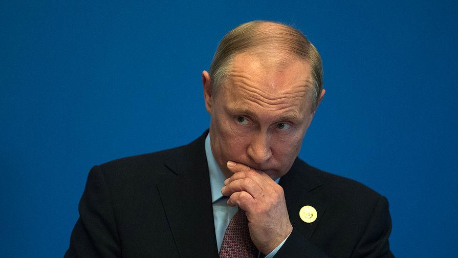 Президент России Владимир Путин на форуме «Один пояс — один путь» в Пекине, 15 мая...