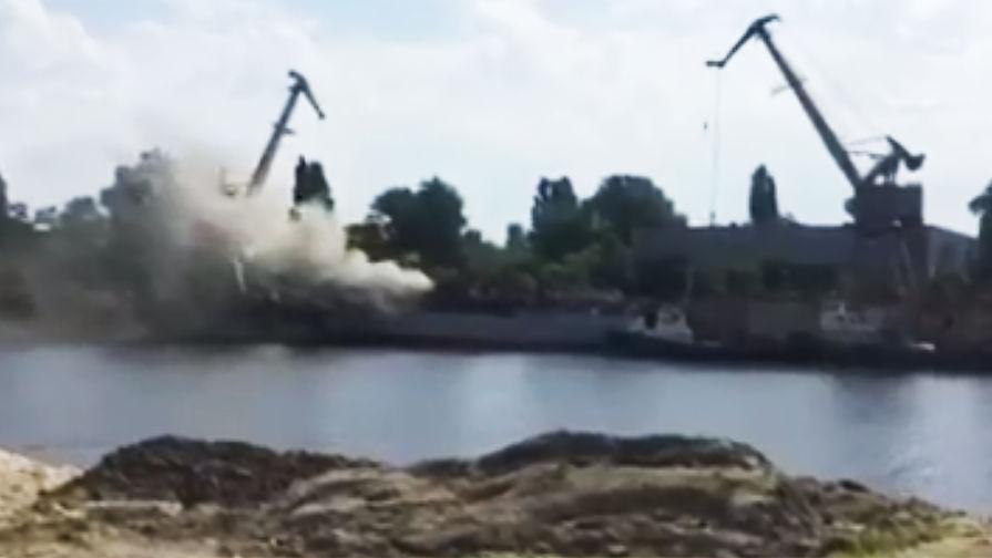 «Видно за километры»: в Киеве горит новый корабль-разведчик