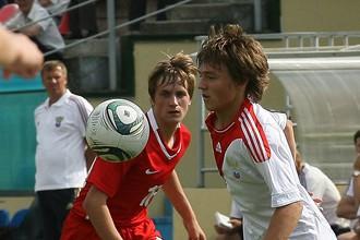 Денис Давыдов в своем первом матче за молодежку заработал угловой, который принес России победу над Словенией
