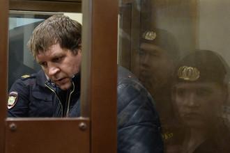 Александр Емельяненко в зале заседаний Симоновского суда Москвы