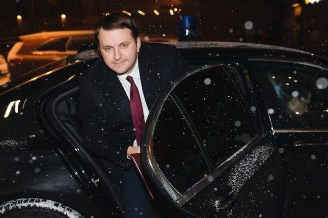 Министр экономического развития Максим Орешкин перед интервью в редакции «Газеты.Ru»