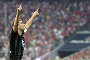 Джеко радуется голу в ворота «Баварии»