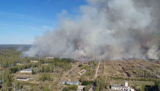 Пожар на территории бывшего военного арсенала в поселке Пугачево в Удмуртии, 16 мая 2018 года