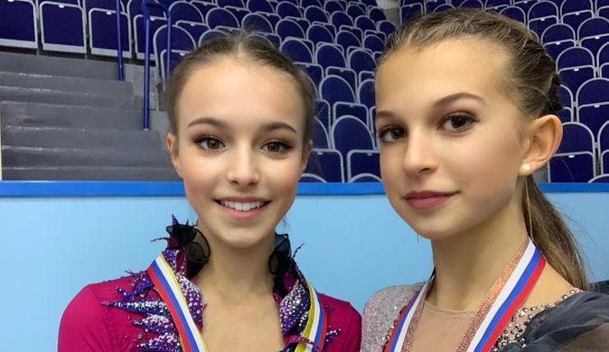 Российские фигуристки Анна Щербакова и Анастасия Шаботова